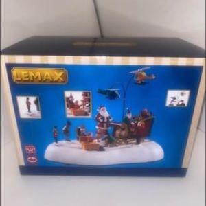 Santa Delivering Presents Christmas Village